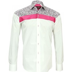 Vêtements Homme Chemises manches longues Emporio Balzani chemise mode fiorino blanc Blanc