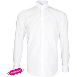Chemises manches longues Emporio Balzani chemise col casse premium blanc