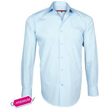 Chemises manches longues Andrew Mc Allister chemise premium basic-mode bleu