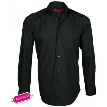 Chemises manches longues Andrew Mc Allister chemise premium basic-mode noir