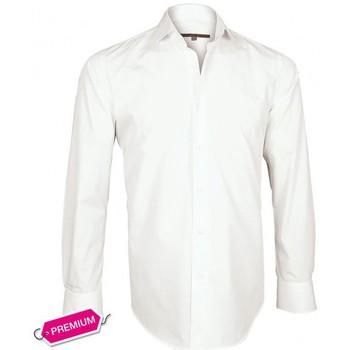 Vêtements Homme Chemises manches longues Andrew Mc Allister chemise premium basic-fashion blanc Blanc