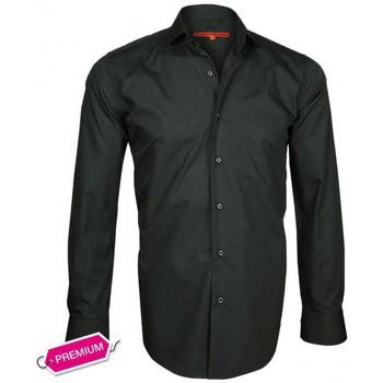 Chemises manches longues Andrew Mc Allister chemise premium basic-fashion noir