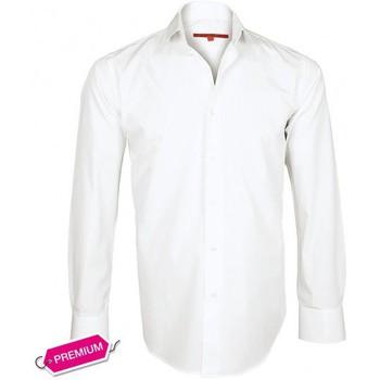 Chemises manches longues Andrew Mc Allister chemise premium basic-tendance blanc
