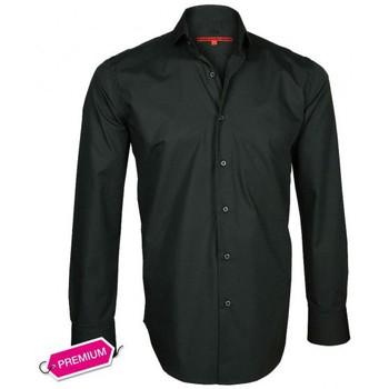 Vêtements Homme Chemises manches longues Andrew Mc Allister chemise premium basic-tendance noir Noir
