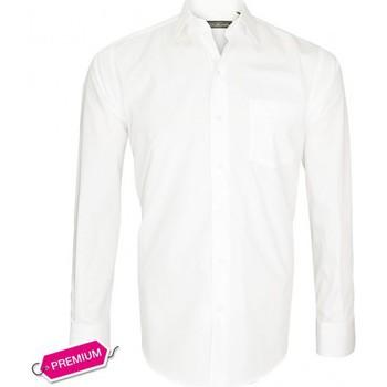 Chemises manches longues Emporio Balzani chemise premium basic-business blanc