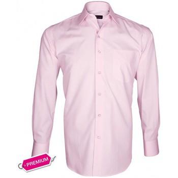 Chemises manches longues Emporio Balzani chemise premium basic-business rose