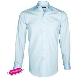 Chemises manches longues Emporio Balzani chemise premium basic-business bleu