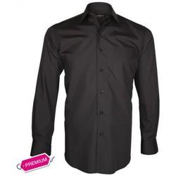 Chemises manches longues Emporio Balzani chemise premium basic-business noir