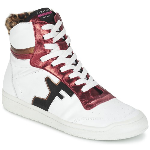 Chaussures Femme Baskets montantes Serafini SAN DIEGO Blanc / Rouge