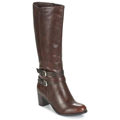 Chaussures Femme Bottes ville Moony Mood FARANDO Marron