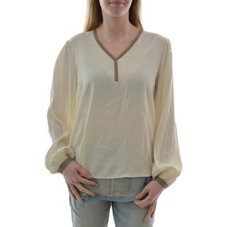 T-shirts manches longues Pako Litto tee shirt manches longues  ch1315 chemise ml col v beige