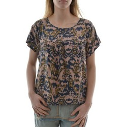 Vêtements Femme T-shirts manches courtes Pako Litto tee shirt  t1342 top over court beige beige