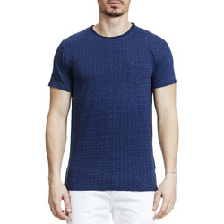 T-shirts manches courtes Dstrezzed Tee Shirt  Indigo Fonce Homme