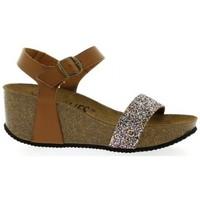 Chaussures Femme Sandales et Nu-pieds K. Daques Nu pieds cuir pailleté Cognac