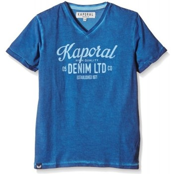 Vêtements Garçon T-shirts manches courtes Kaporal T-Shirt  Doy Bleu Cobalt Bleu