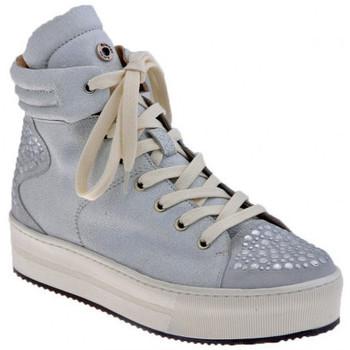 Chaussures Femme Baskets montantes Janet&Janet Cloutés plate-forme moyenne et haute Sport Baskets montantes blanc