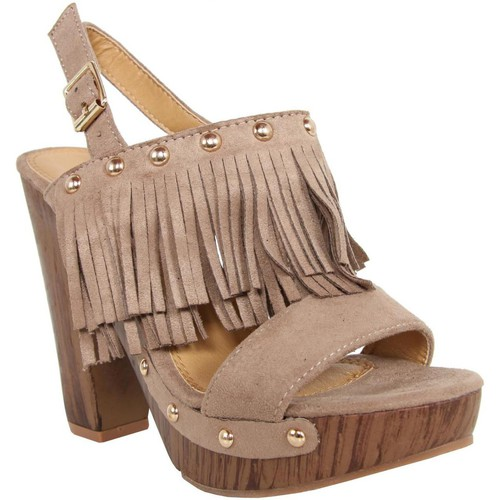 Chaussures Femme Sandales et Nu-pieds Colires C6068 Beige
