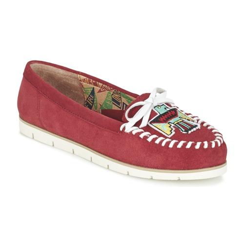 Miss L'Fire YHUNDERBIRD Rouge - Livraison Gratuite avec  - Chaussures Mocassins Femme