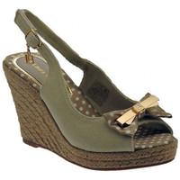 Chaussures Femme Sandales et Nu-pieds Laura Biagiotti Sandalo zeppa cinturino cordura fiocco Sandales