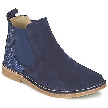 Chaussures Fille Boots Citrouille et Compagnie FIGOULI Bleu