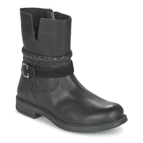 Chaussures Fille Boots Citrouille et Compagnie FURAMO Noir