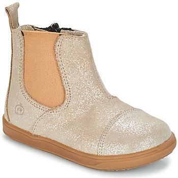 Chaussures Fille Boots Citrouille et Compagnie FEPOL Argenté