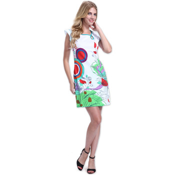 Vêtements Femme Robes courtes Coton Du Monde Robe CORA Blanc Multicolore