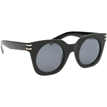 Montres & Bijoux Femme Lunettes de soleil Eye Wear Lunettes de soleil Femme Ronde Noir Brillant Meslay Noir