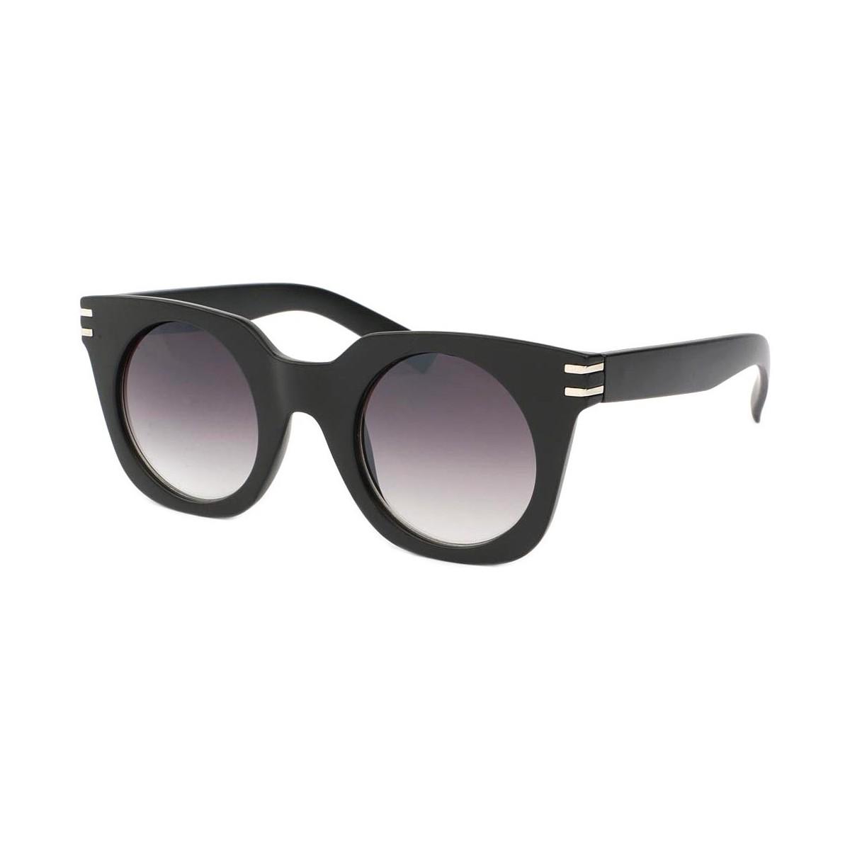 Eye Wear Lunettes de soleil Femme Ronde Noir Mat Meslay Noir