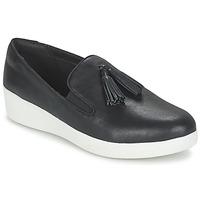 Chaussures Femme Slip ons FitFlop TASSEL SUPERSKATE Noir