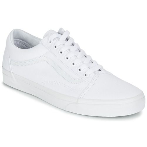 Chaussures Baskets basses Vans OLD SKOOL Blanc