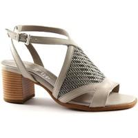 Chaussures Femme Sandales et Nu-pieds Keys TOUCHES 5411 chaussures gris bracelet femme sandale entrecroisem Grigio