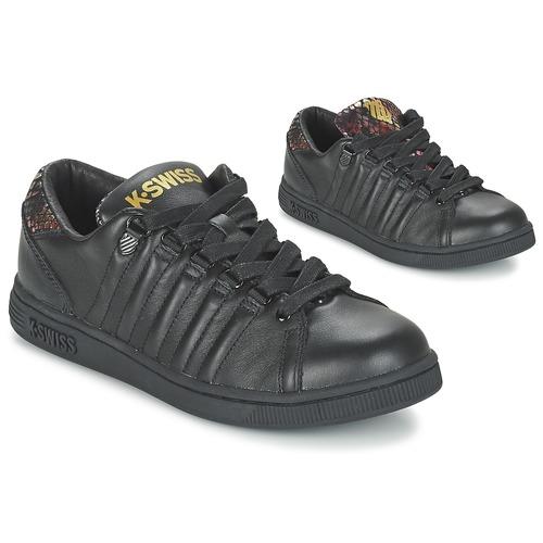 Chaussures Femme Baskets basses K-Swiss LOZAN TONGUE TWISTER Noir / Doré