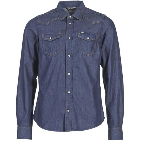 Vêtements Homme Chemises manches longues Diesel NEW SONORA Bleu