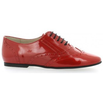 Chaussures Femme Richelieu Vidi Studio Derby cuir vernis rouge