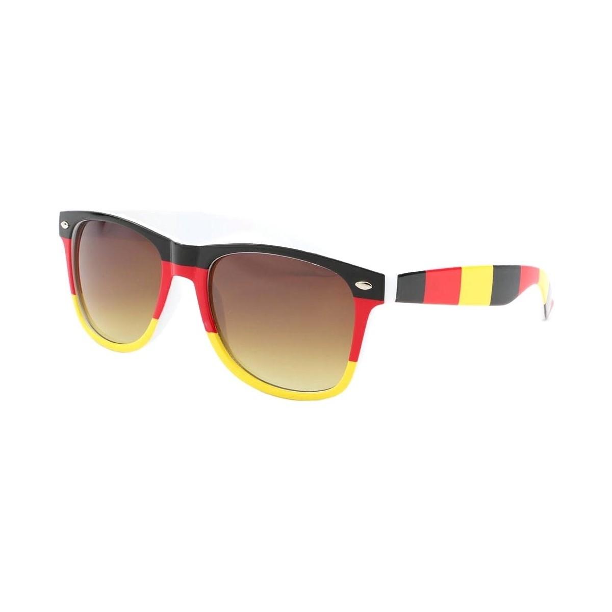 New Time Lunettes de soleil Allemagne Noire Rouge Jaune Noir