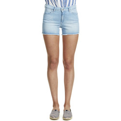 Shorts / Bermudas Wrangler Short En Jean Cut Off Bleu Clair Femme