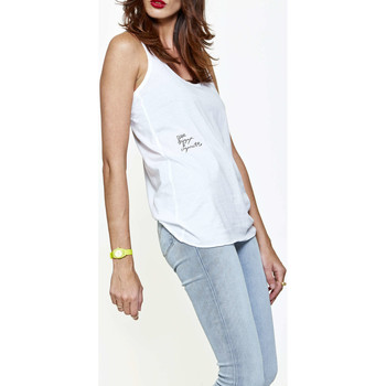 Vêtements Femme Débardeurs / T-shirts sans manche Candy For Richmen Debardeur  Beer Pizza Cigarette Tt003-277 Blanc Femme Blanc