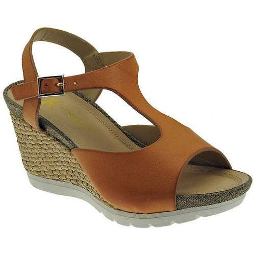 Chaussures Femme Sandales et Nu-pieds Lumberjack Sissi sandalo zeppa cinturino Talon compensé