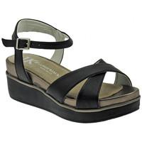 Chaussures Femme Sandales et Nu-pieds Lumberjack Bianca sandalo fascia incrocia cinturino Talon compensé