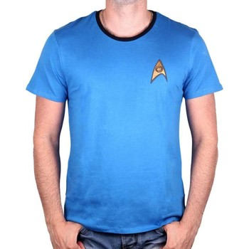 T-shirts manches courtes Cotton Division Tshirt homme Star Trek - Costume Spock Blue
