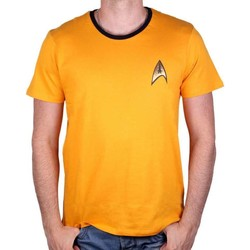 Vêtements Homme T-shirts manches courtes Cotton Division Tshirt  Star Trek - Costume Kirk Yellow Jaune