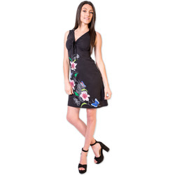 Vêtements Femme Robes courtes Coton Du Monde Robe LOUNA Noir Multicolore