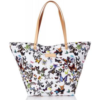 Sacs Femme Sacs porté main Christian Lacroix Sac shopping Eden 1 Papillon Blanc Noir