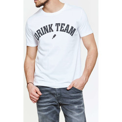 Vêtements Homme T-shirts manches courtes Candy For Richmen Tee Shirt  Drink Team Sttm528 Blanc Homme Blanc
