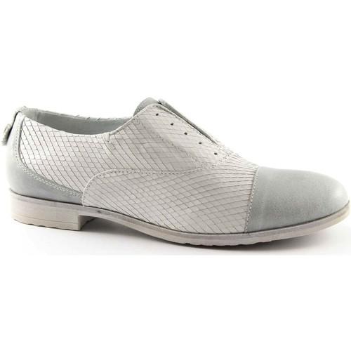 Chaussures Femme Richelieu Café Noir CAF NOIR EB630 pointe chaussures blanches de glace brogues sans Bianco