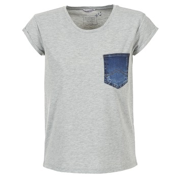 Vêtements Femme T-shirts manches courtes Mustang SLV DENIM POCKET Gris