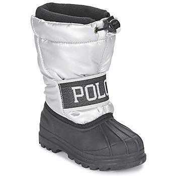 Chaussures Fille Bottes de neige Ralph Lauren JAKSON Argent / Noir