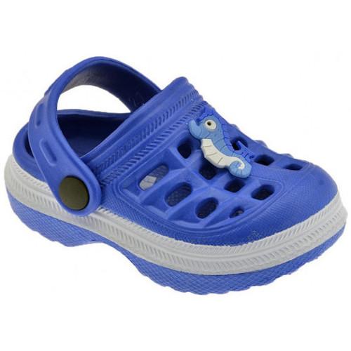 Chaussures Enfant Sabots Medori Pony Cinturino Kid Sabot bleu