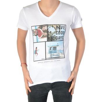 Vêtements Garçon T-shirts manches courtes Deeluxe T-shirt Deeluxe Enfant S16189K Brett Kid White Blanc